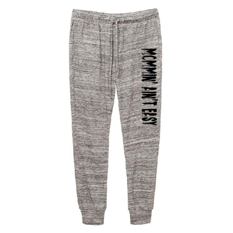 Mommin' Ain't Easy™ - Eco Grey Joggers-Little Hooligans Co.