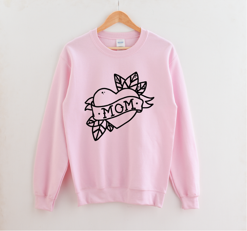 Mom (tattoo) - Unisex Pullover-Little Hooligans Co.