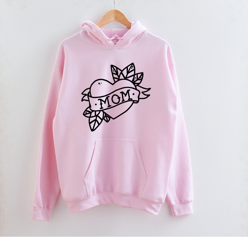 Mom (tattoo) - Unisex Hoodie-Little Hooligans Co.