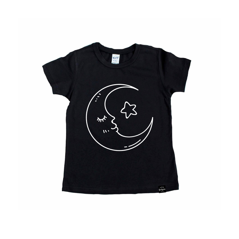 Star + Moon - Kids Tee-Little Hooligans Co.