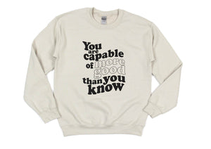 You Are Capable - Unisex Sand Pullover-Little Hooligans Co.