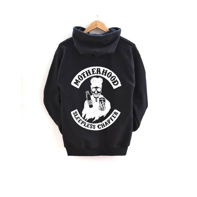 Sleepless Chapter (back) - Unisex Hoodie-Little Hooligans Co.
