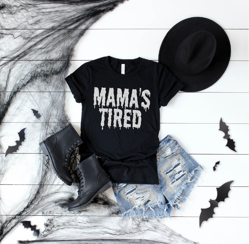 Mama's Tired {Shimmer} - Unisex Crew Neck-Little Hooligans Co.