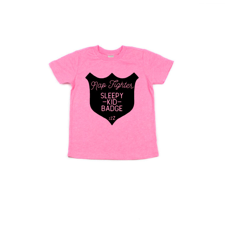 Nap Fighter - Pink Tee-Little Hooligans Co.