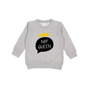 Nap Queen - Fleece Pullover-Little Hooligans Co.