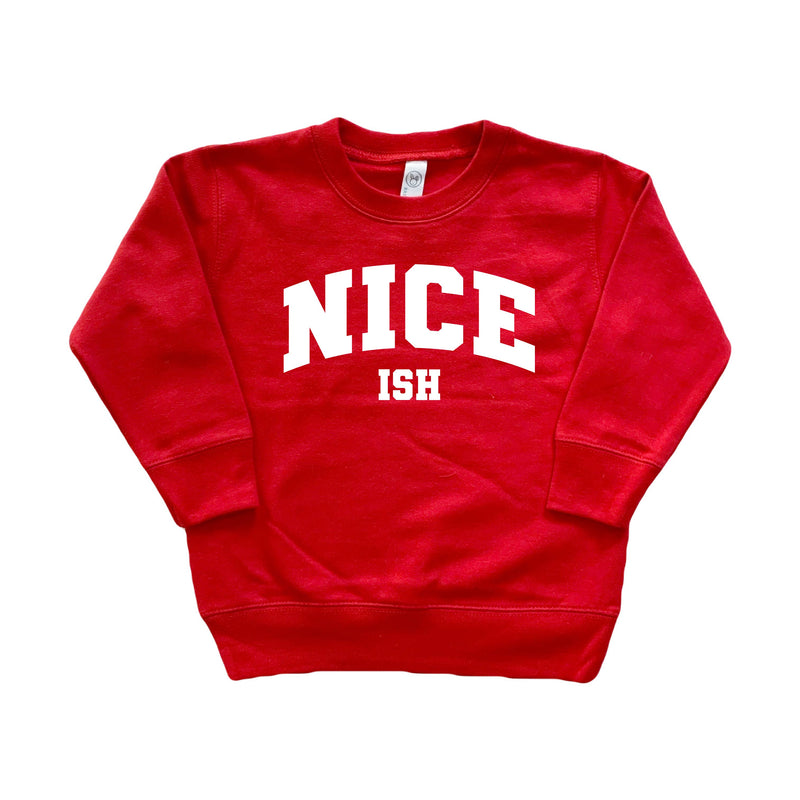 Nice (ish) - Kids Pullover-Little Hooligans Co.