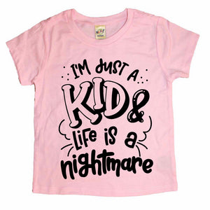 I'm Just A Kid - Pink Tee - Little Hooligans Co.