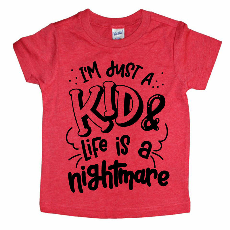 I'm Just A Kid - Red Tee-Little Hooligans Co.