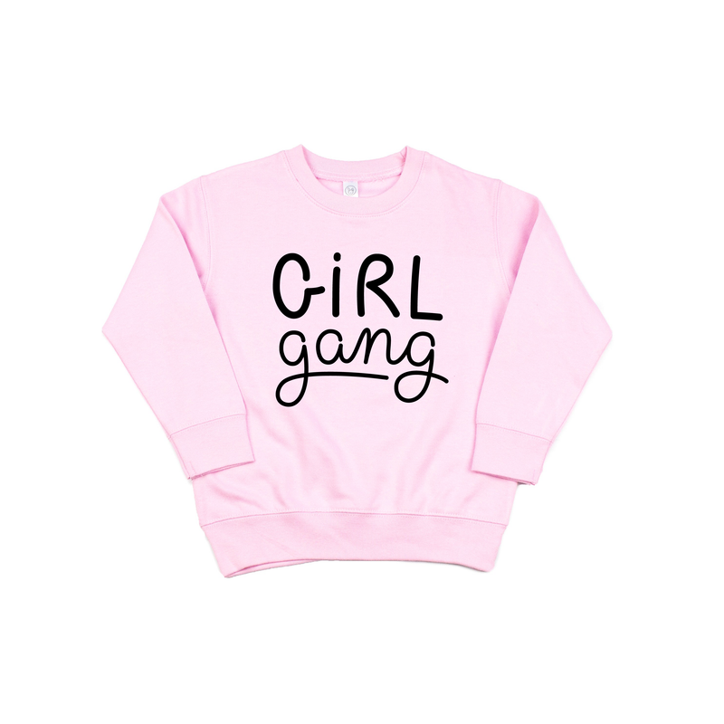 Girl Gang - Pink Fleece Pullover - Little Hooligans Co.