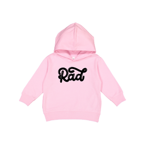 Rad - Light Pink Hoodie-Little Hooligans Co.
