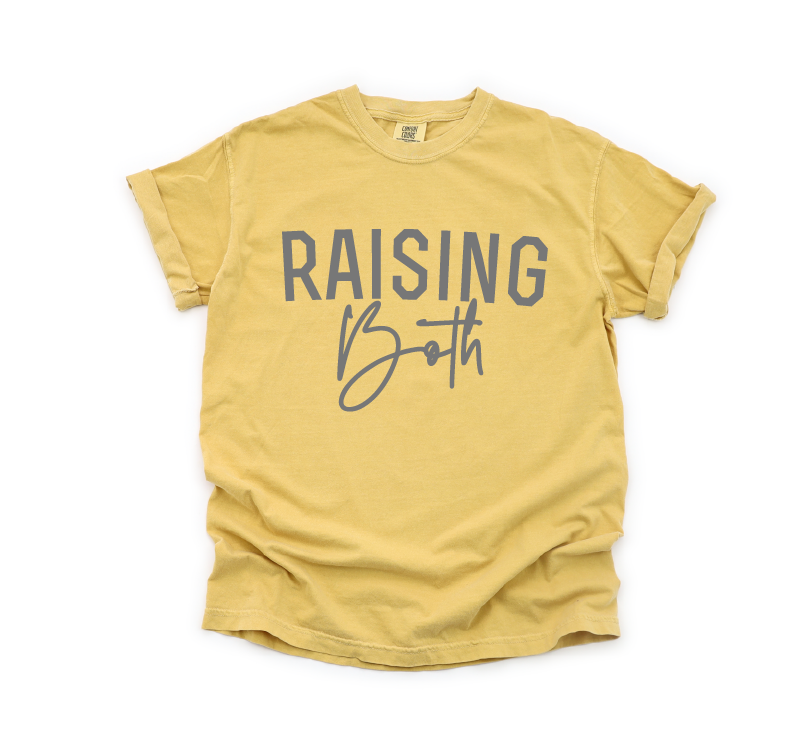 Raising Both - Unisex Mustard Tee-Little Hooligans Co.