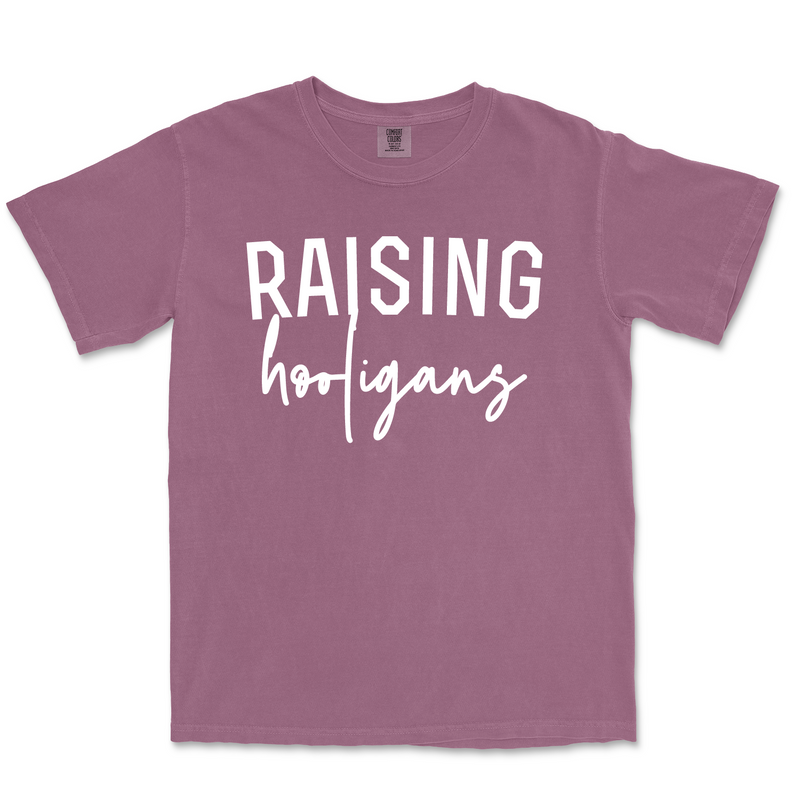 Raising Hooligans - Unisex Berry Comfort Colors Tee-Little Hooligans Co.