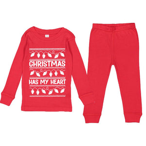 Christmas Has My Heart - PJ Set-Little Hooligans Co.