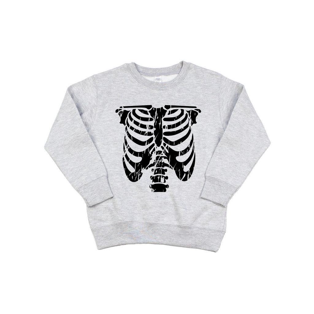 Rib Cage - Grey Pullover-Little Hooligans Co.