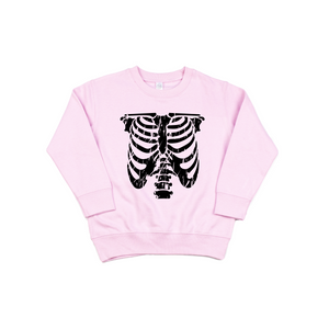 Rib Cage - Pink Pullover-Little Hooligans Co.
