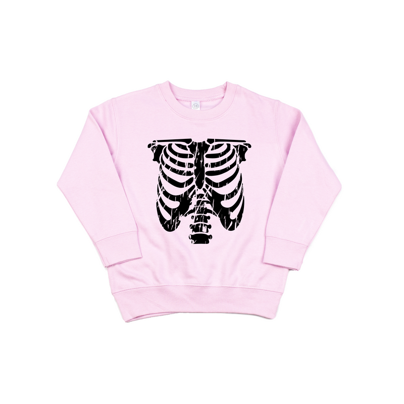 Rib Cage - Pink Pullover - Little Hooligans Co.