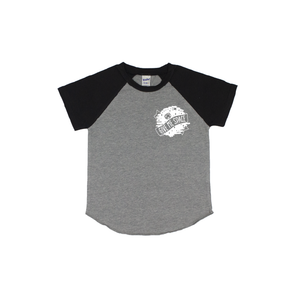 Give Me Space - Grey/Black Short Sleeve Raglan-Little Hooligans Co.