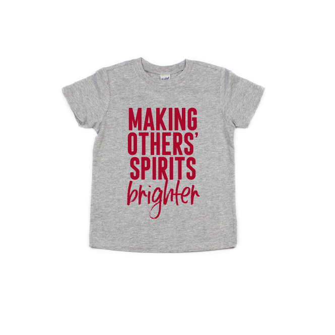 Making Others' Spirits Brighter - Kids Tee - Little Hooligans Co.