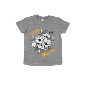 Stay Golden - Kids Grey Tee-Little Hooligans Co.