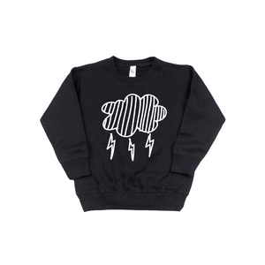 Cloudy - Black Pullover-Little Hooligans Co.