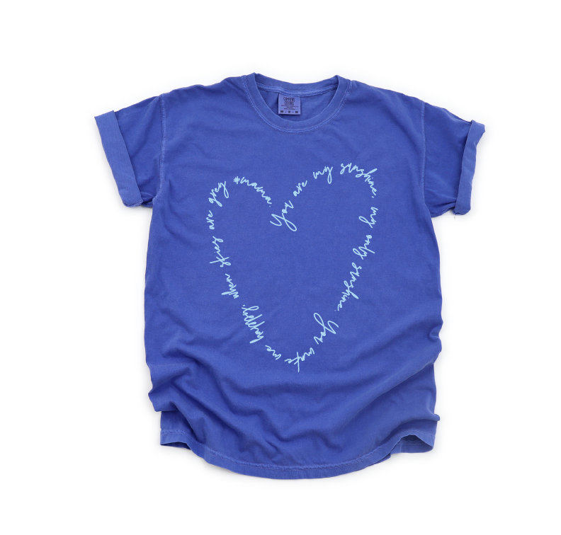 Copy of You Are My Sunshine - Unisex Neon Blue Tee-Little Hooligans Co.