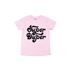 Super Duper - Light Pink Tee-Little Hooligans Co.