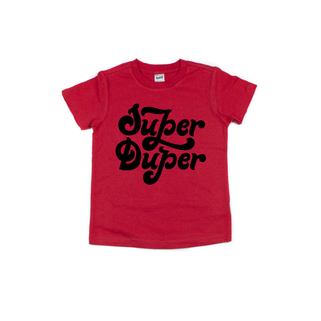 Super Duper - Red Tee-Little Hooligans Co.