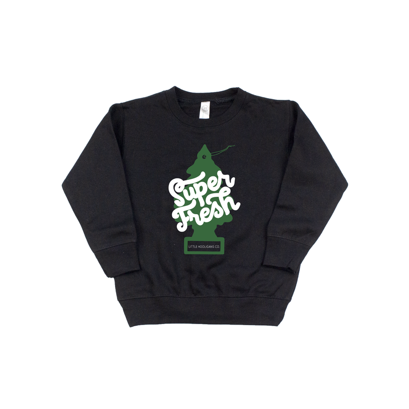 Super Fresh - Black + Green Pullover-Little Hooligans Co.