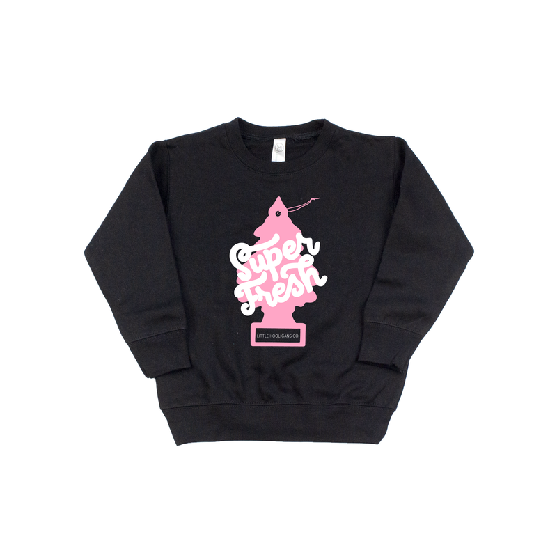Super Fresh - Black + Pink Pullover-Little Hooligans Co.