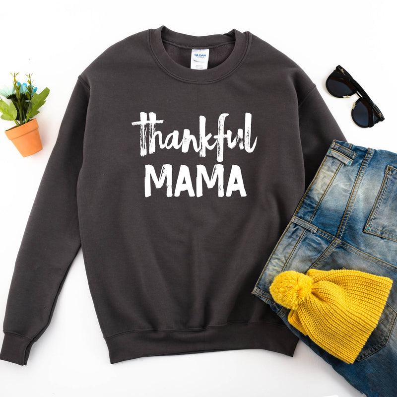 Thankful Mama - Unisex Charcoal Pullover-Little Hooligans Co.