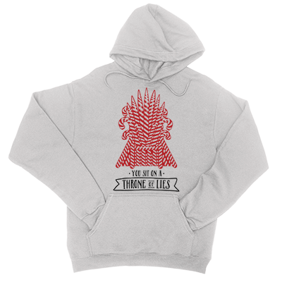 Throne Of Lies - Light Grey Unisex Hoodie-Little Hooligans Co.
