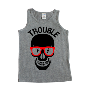 Trouble - Grey Tank-Little Hooligans Co.