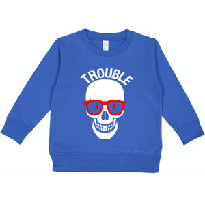 Trouble - Fleece Pullover-Little Hooligans Co.