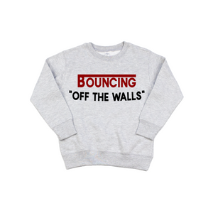 Off The Walls - Grey Pullover-Little Hooligans Co.