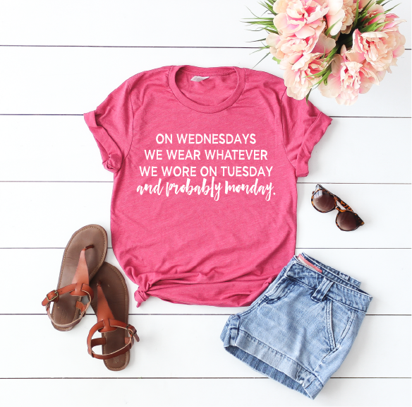 On Wednesday's We Wear - Unisex Tee-Little Hooligans Co.