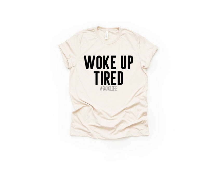 Woke Up Tired - Unisex Crewneck Tee-Little Hooligans Co.