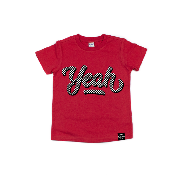Yeah {Checkered} - Kids Tee-Little Hooligans Co.