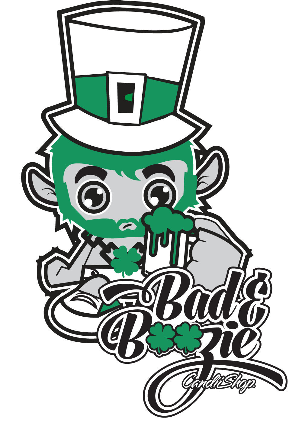 St. Patrick's day T Shirt - Bad & Boozie