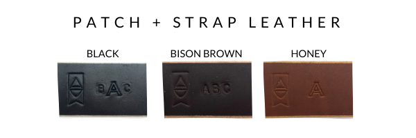Patch + Strap Leather Options