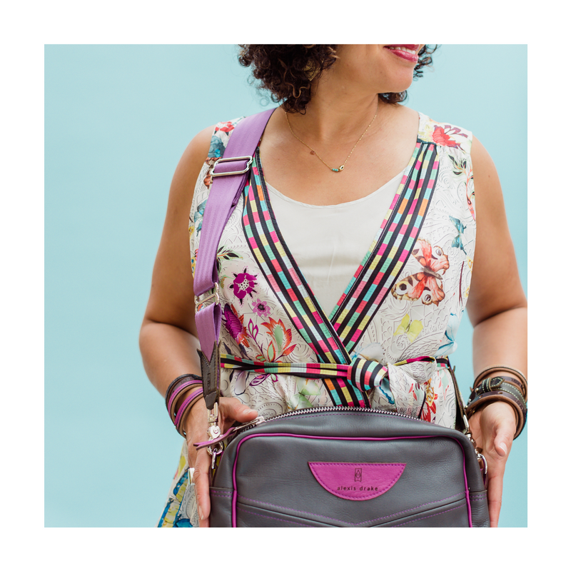 STUDIO | Belt | Brown + Silver Kilim Print