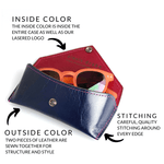 CUSTOM | Leather Sunglasses Case