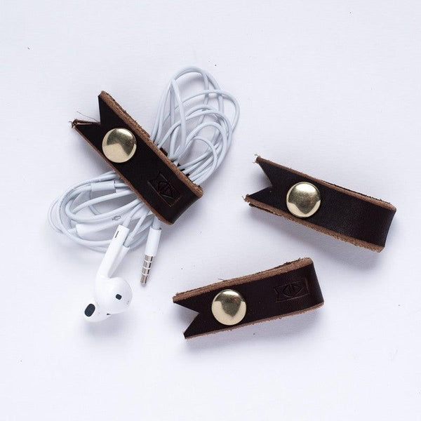 Leather Cord Keeper, Set of 2