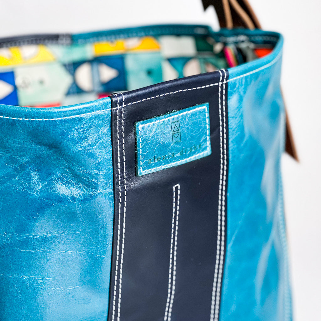 JANUARY COLLCETION | Sophie Crossbody Handbag | Black + Pearl + Red Stitching