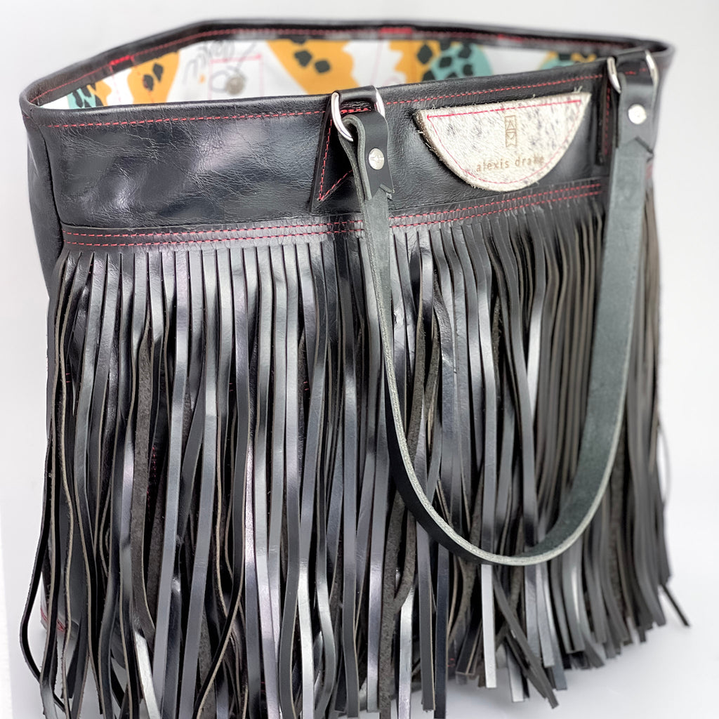 JANUARY COLLECTION | Tivoli Shoulder Handbag | Turquoise + Hair on hide Accents