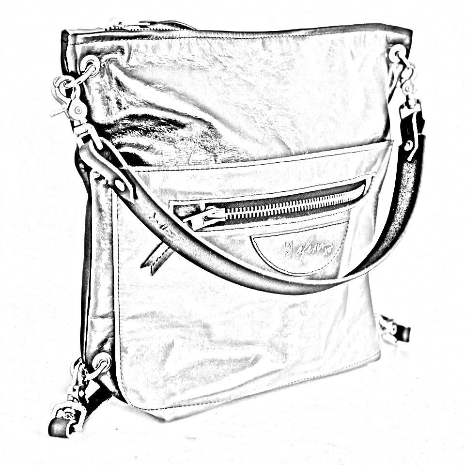 Backpack with Zippered Outside Pocket