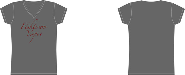 Women Grey Fishtown Vapes V-Neck