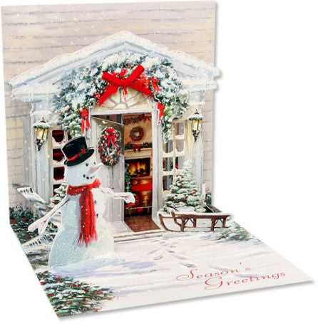 up with paper 936 holiday door 3d pop up card