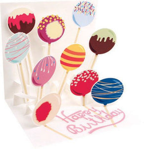 Up with paper 1167 cake pops birthday greeting card