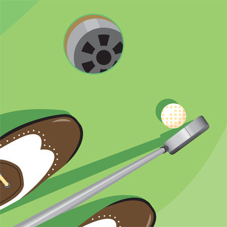 up with paper 1141 golf! 3d pop up greeting card