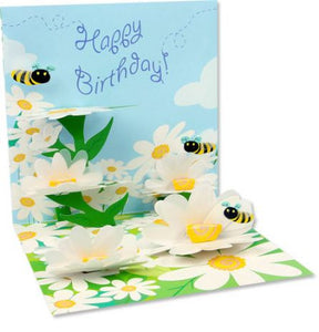 up with paper 777 bees and daisies 3d pop up birthday greeting card